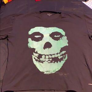 Misfit shirt crop top